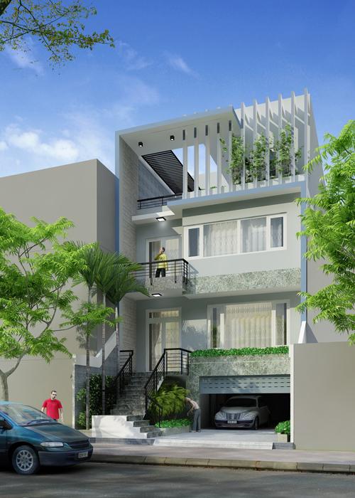Thiết kế nhà phố 3 tầng 120m2