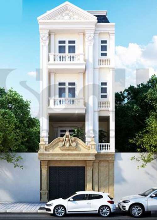 Đơn giá thiết kế xây nhà 4 tầng 70m2