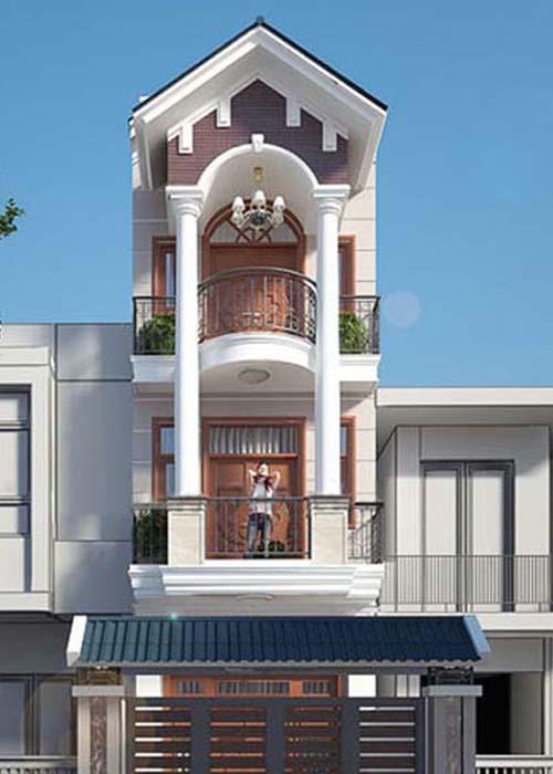 Đơn giá xây nhà 4 tầng rưỡi 65m2